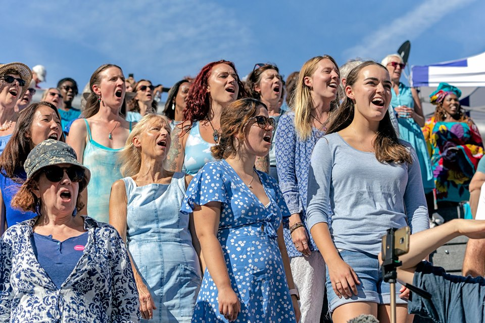 Image of choir during Sing for Water, London, September 2019