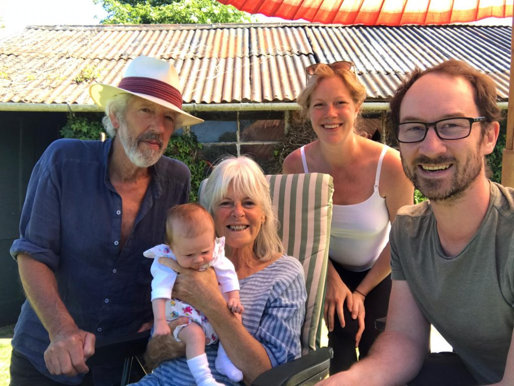 A photo of Tom, Beth, Florence and Beth's parents